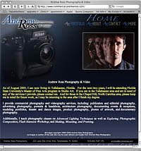 Andrew Ross Photography & Video site
